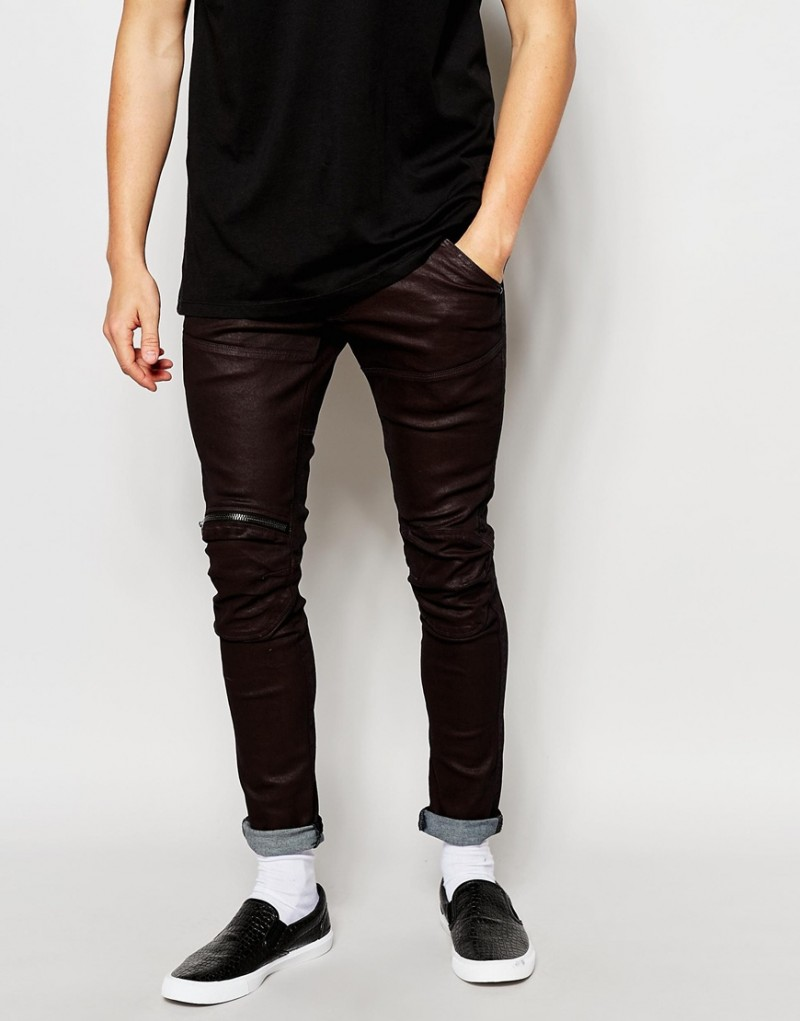 G-Star Elwood 5620 Super Slim Fit Stretch Jeans with Zip Knee.