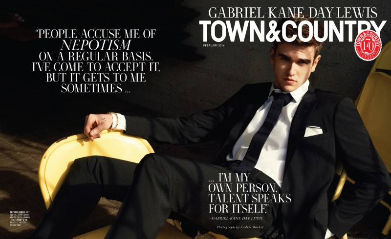 Gabriel-Kane Day-Lewis covers the February 2016 issue of Town & Country.