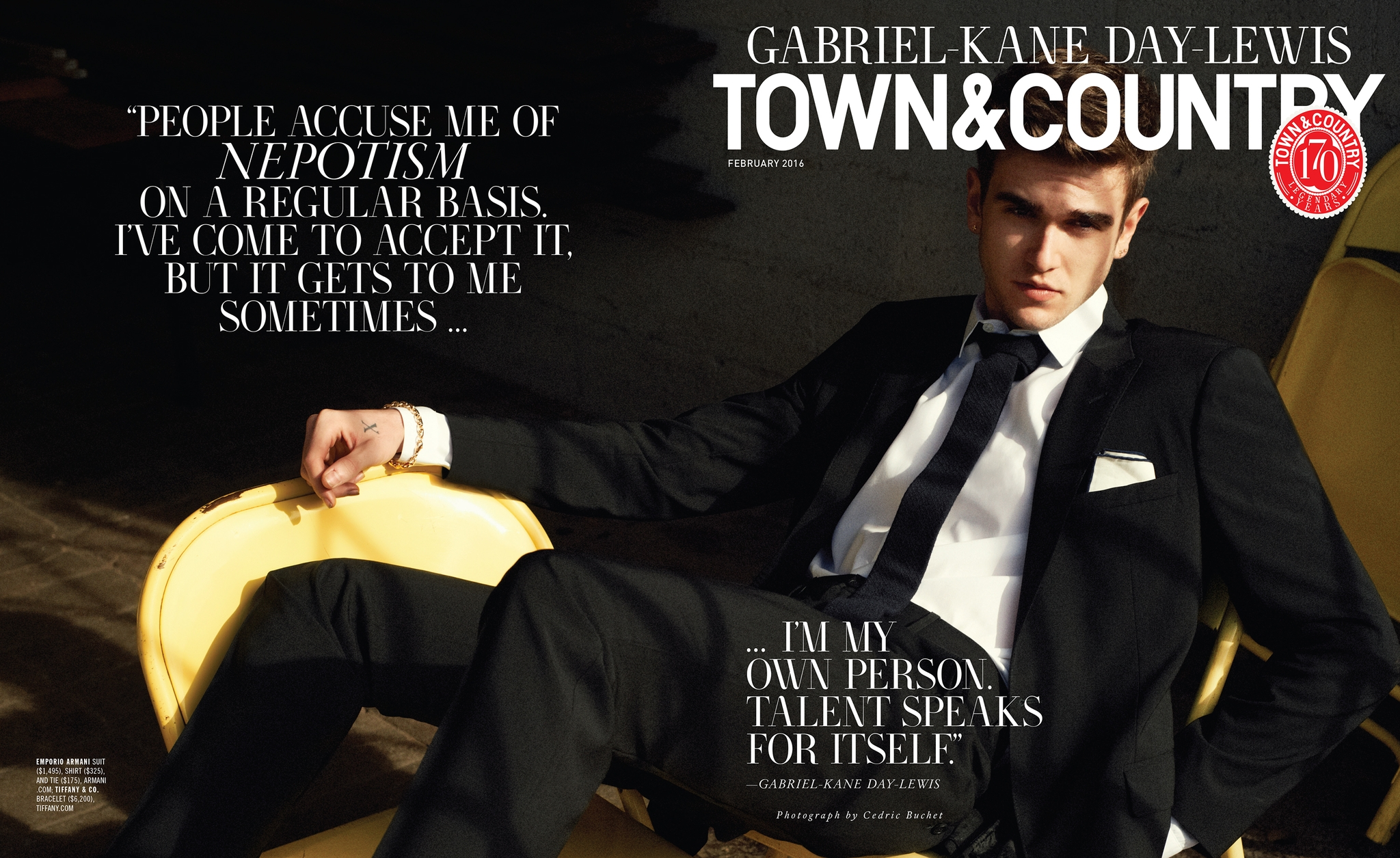 Gabriel-Kane Day-Lewis Covers Town & Country, Talks Nepotism
