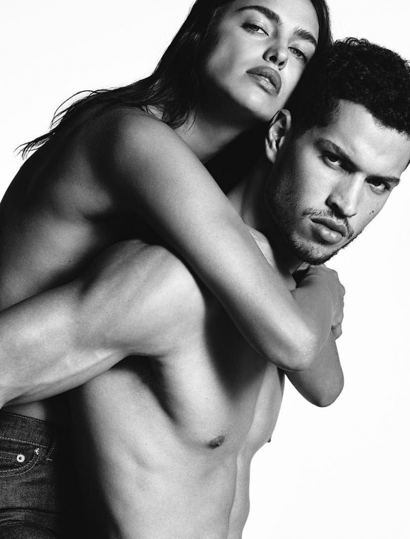 Givenchy Jeans spring-summer 2016 campaign featuring models Irina Shayk and Chris Moore.