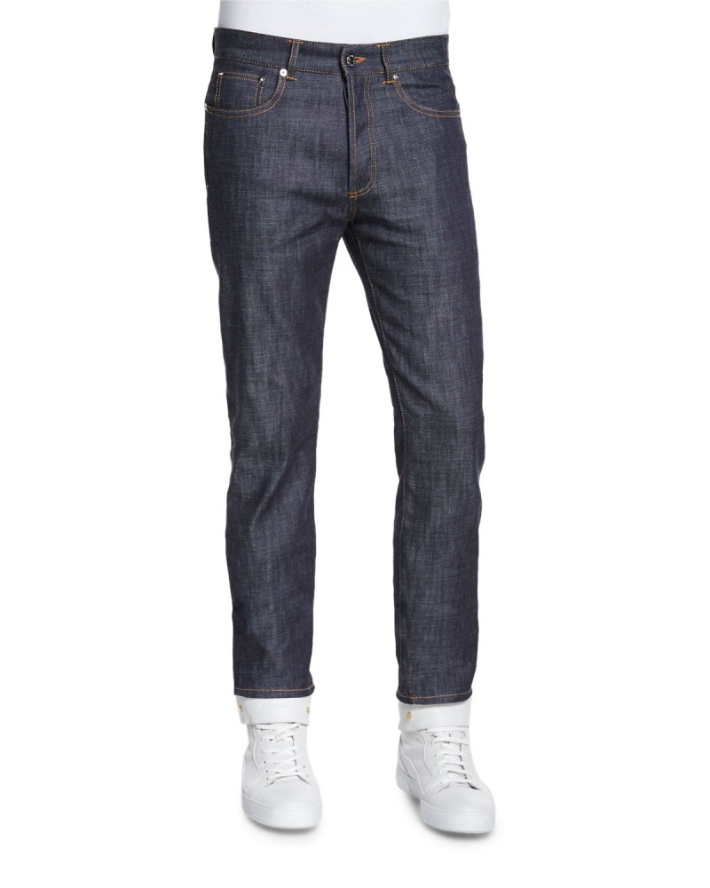 Givenchy Raw Slim Denim Jeans in Indigo.