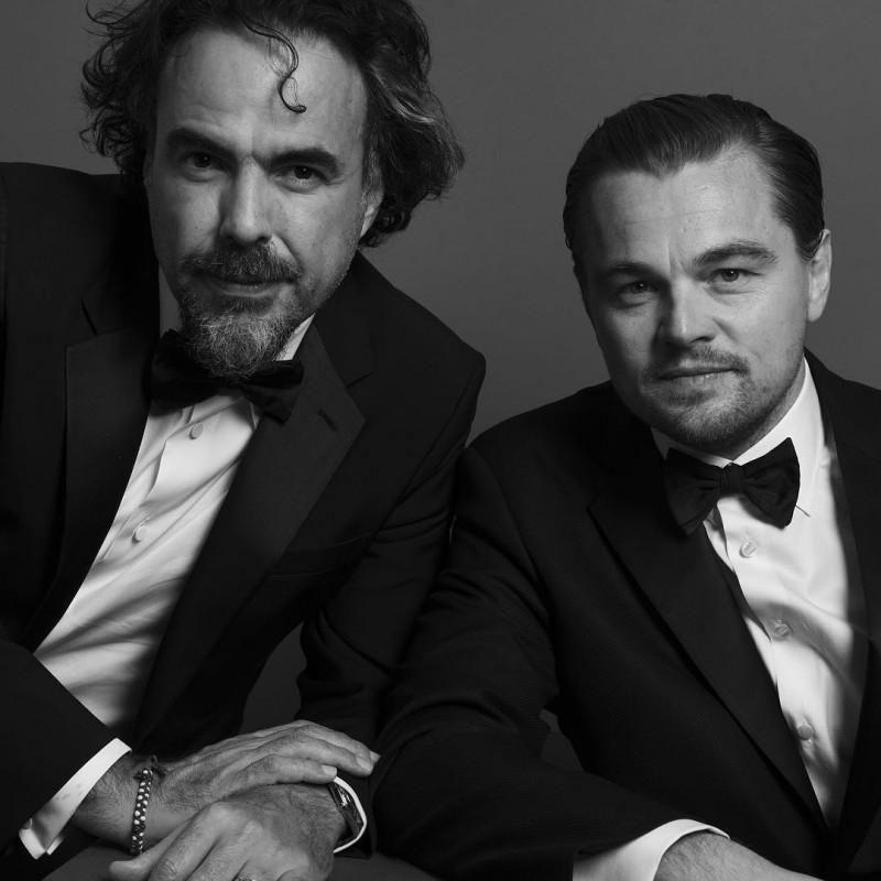 Director Alejandro Inarritu and Leonardo DiCaprio photographed by Inez & Vinoodh.