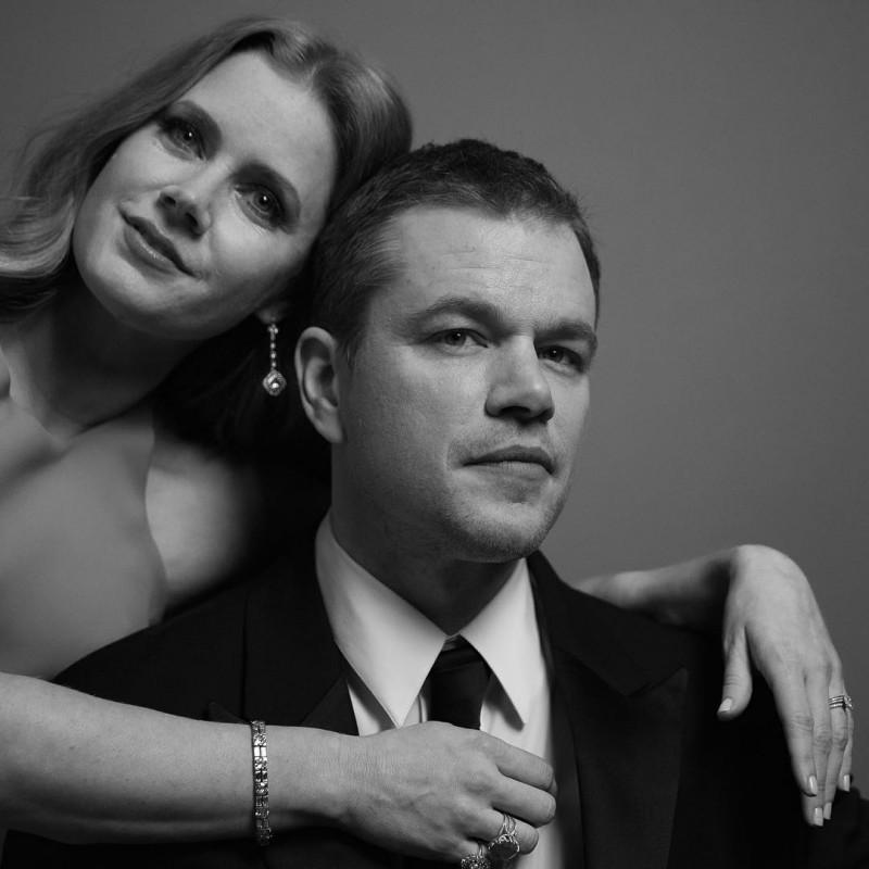 Amy Adams and Matt Damon photographed by Inez & Vinoodh.