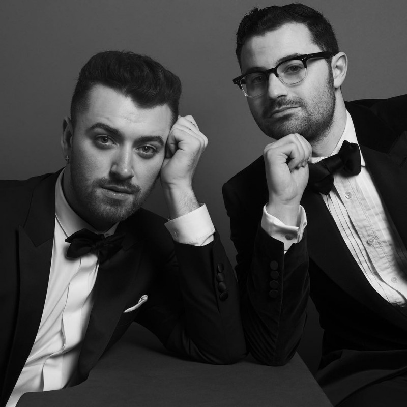 Sam Smith and songwriter Jimmy Napes photographed by Inez & Vinoodh.
