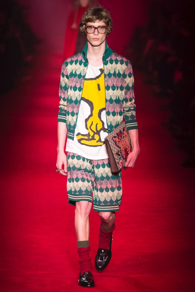 Gucci channels a charming childhood moment with its Woodstock t-shirt for fall-winter 2016.