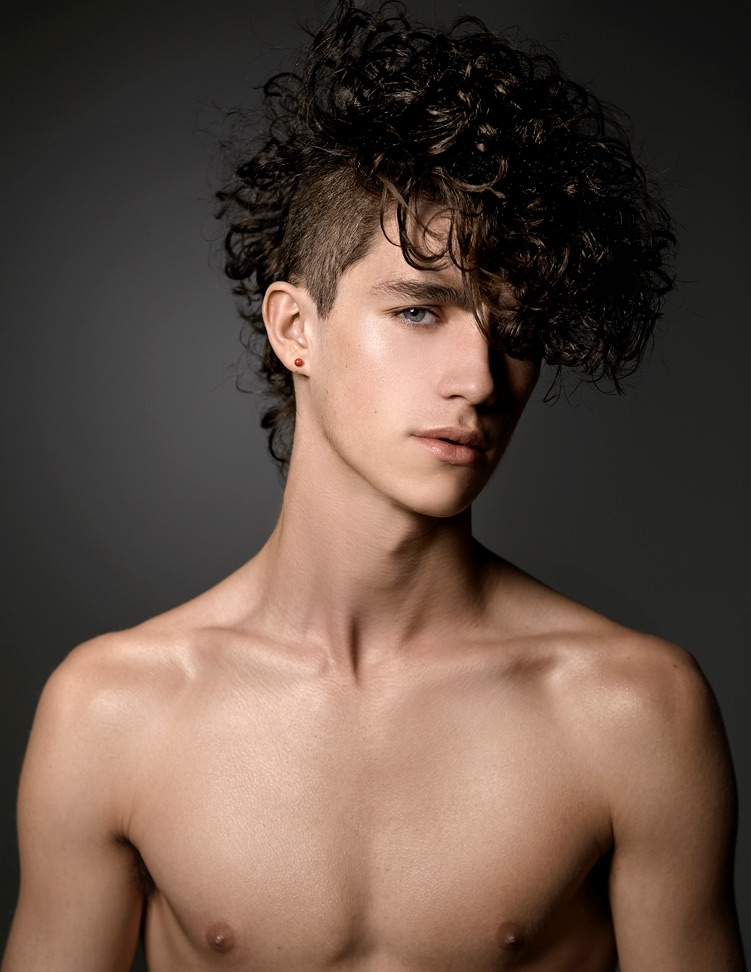 Guy Patrick Rocks Curly Hairstyles For Kimber Capriotti Shoot