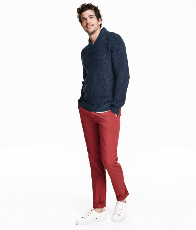 HM Red Slim-Fit Chinos