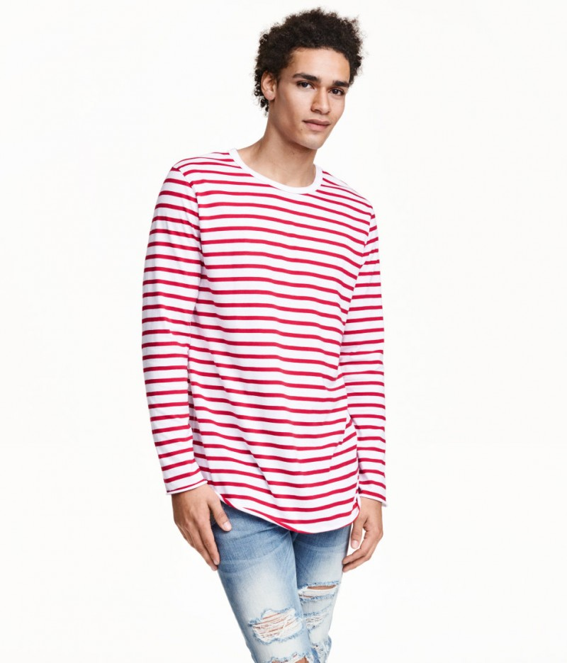 HM Red Striped Long-Sleeve Shirt
