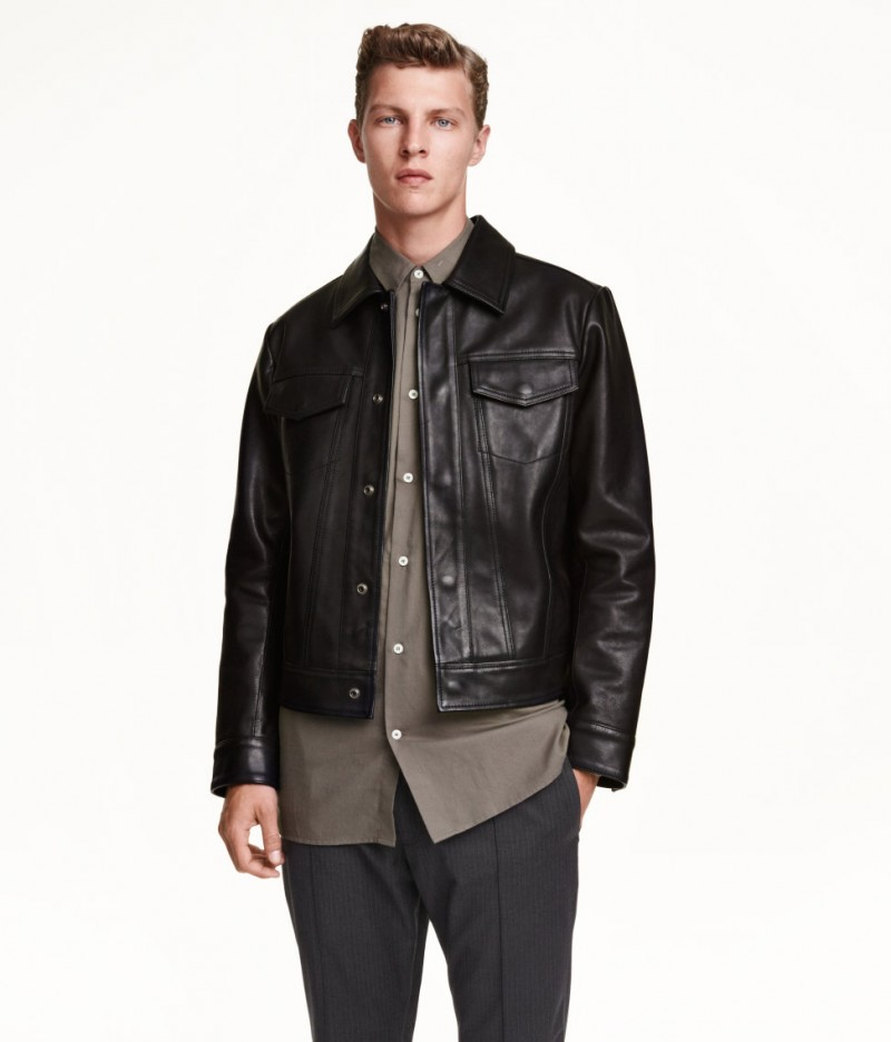 H M Leather Jacket Mens