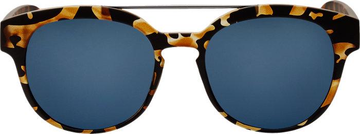 Italia Independent i Plastik Sunglasses in Leopard
