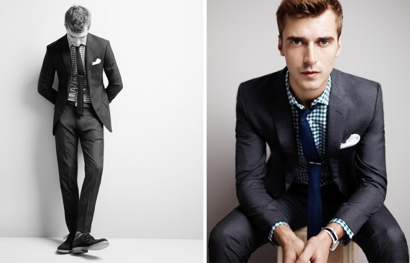 c58b13b0acc1 The Italian Wool Suit  Clément Chabernaud wears Ludlow Suit Jacket with  Double Vent in Italian