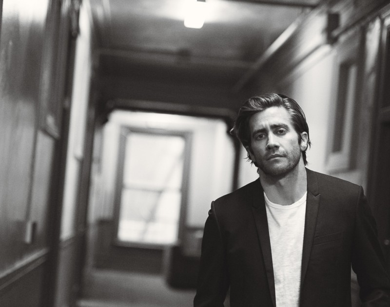 Jake Gyllenhaal photographed by Peter Lindbergh for W magazine.