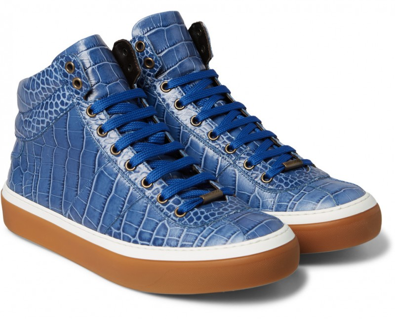 0b4777033d61 ... greece jimmy choo belgravia croc effect leather high top sneakers 728e1  19407