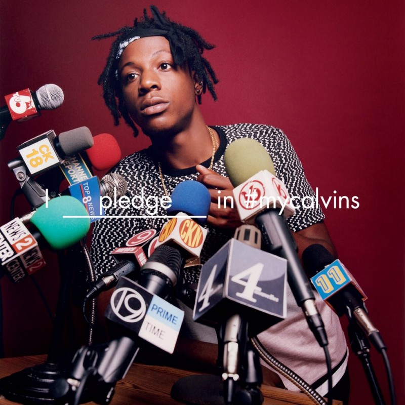 Joey Bada$$ is ready for questions as one of the stars of Calvin Kleins spring-summer 2016 campaign.