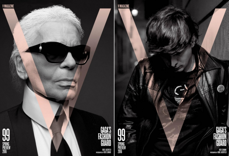 Karl Lagerfeld & Hedi Slimane Snap Each Other for V