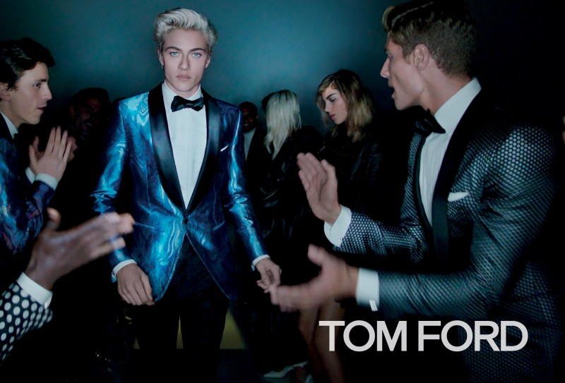 Lucky Blue Smith returns as the face of Tom Ford's spring-summer 2016 men's campaign.