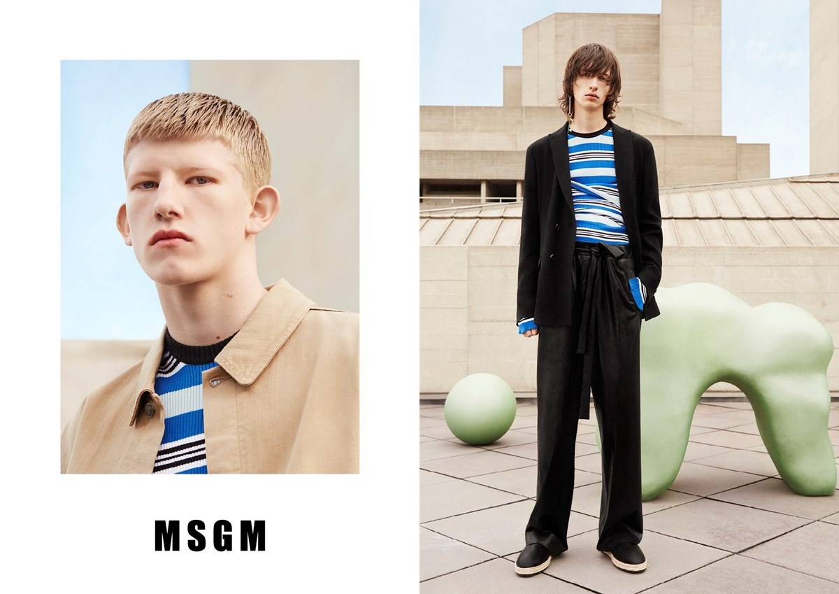 MSGM Packs Graphic, Architectural Punch for Spring Ads