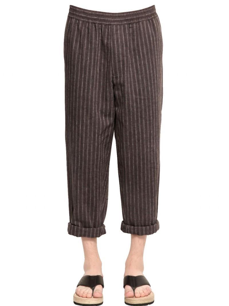 MSGM-Linen-Jacquard-Pants
