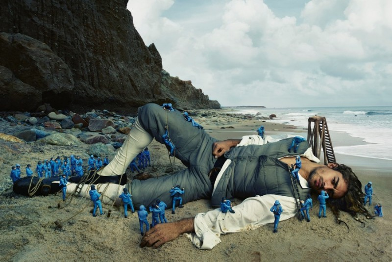 Ignacio Ondategui photographed by Annie Leibovitz for Moncler's spring-summer 2016 campaign.