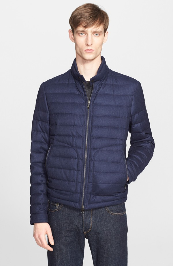 Moncler Delabost Quilted Wool Moto Jacket