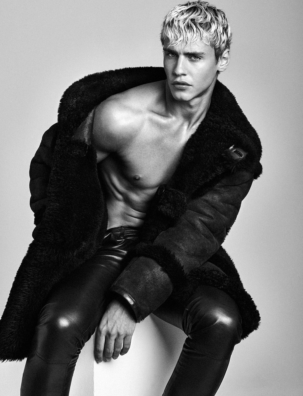 Intertwined: Oliver Stummvoll Models Knits, Shearling + More for Attitude