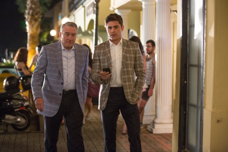 Robert De Niro and Zac Efron coordinate in plaid jackets for Dirty Grandpa.