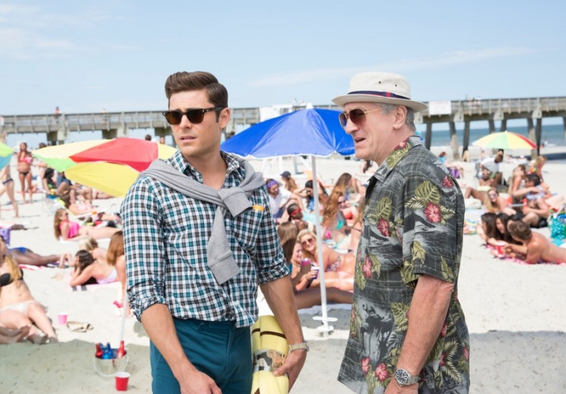 Zac Efron goes preppy for Dirty Grandpa, while Robert De Niro is ready for the beach in a Hawaiian shirt.