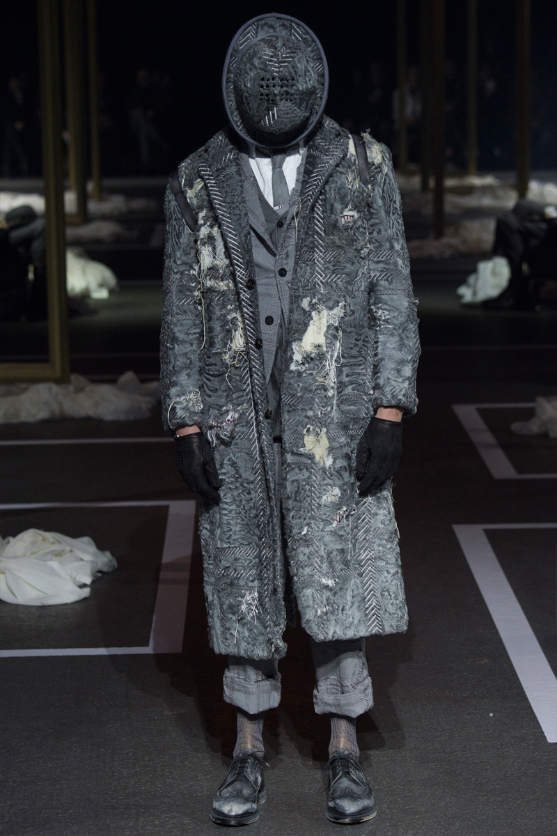 Thom Browne Does Tattered Tailoring for Fall
