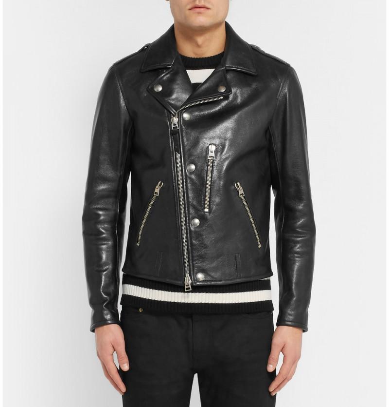 Tom Ford Slim-Fit Leather Biker Jacket