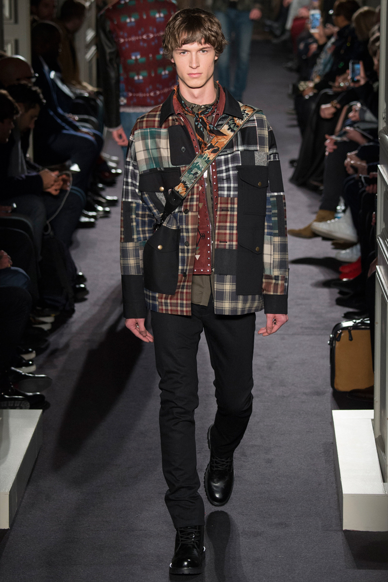 Patchwork comes together to add character to Valentino's fall-winter 2016 collection.