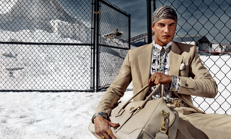 Versace's Man Puts on a Brave Face for Spring Ads