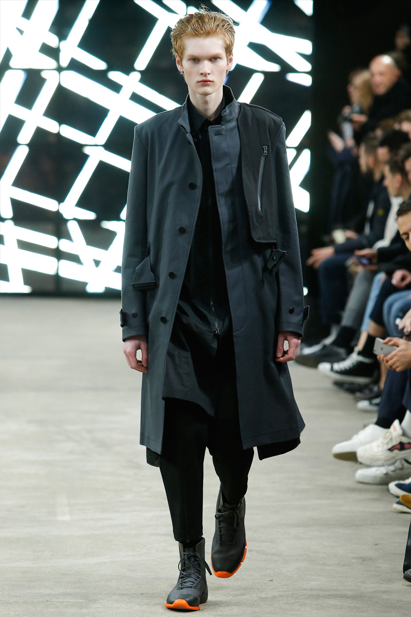 Relaxed silhouettes dominate as Y-3 approaches outerwear for its fall-winter 2016 collection.