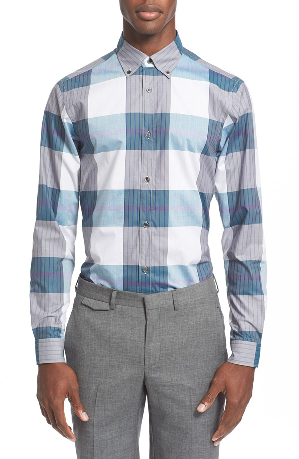 Z Zegna Large Check Trim Shirt