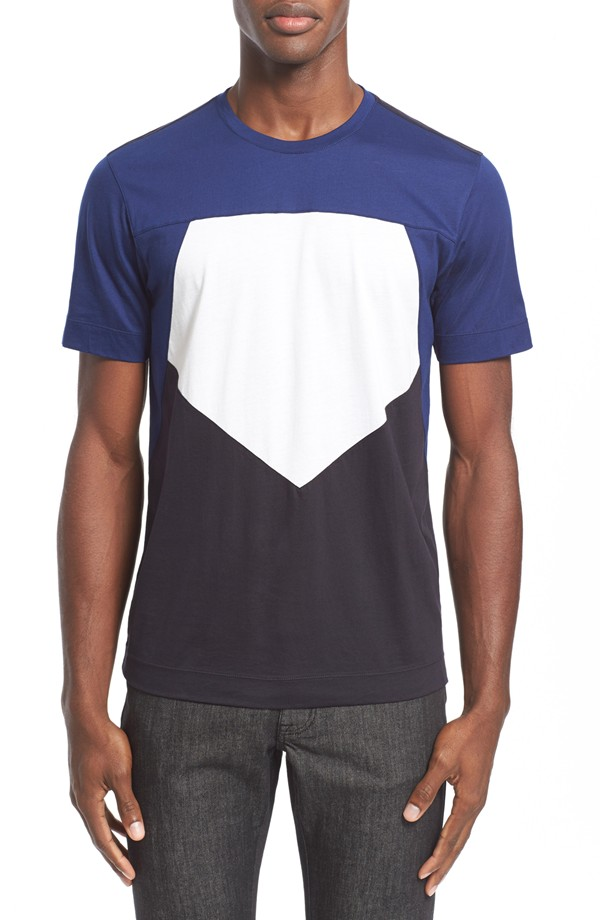 Z Zegna Pieced Pentagon Colorblock T-Shirt