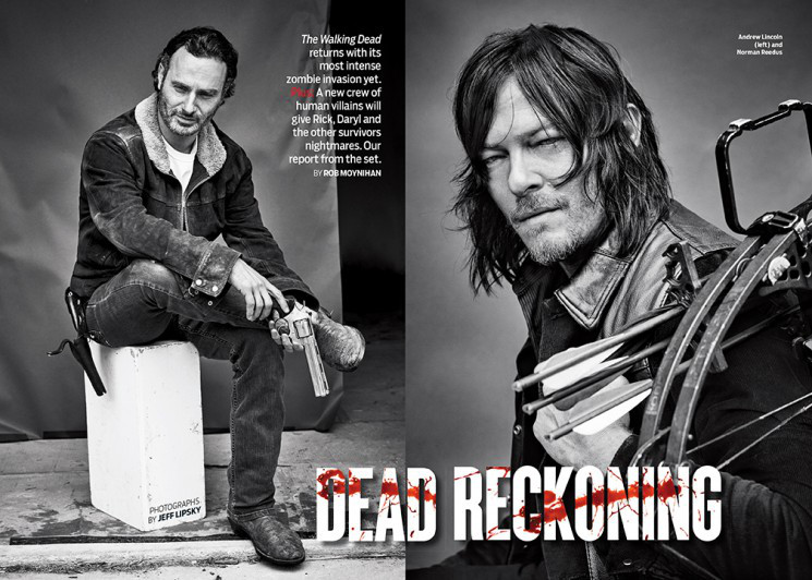 Andrew Lincoln and Norman Reedus hit the photo studio with photographer Jeff Lipsky for TV Guide.