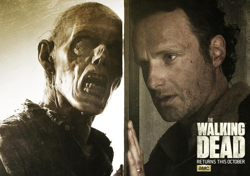 The Walking Dead season six poster artwork featuring Andrew Lincoln as Rick Grimes.