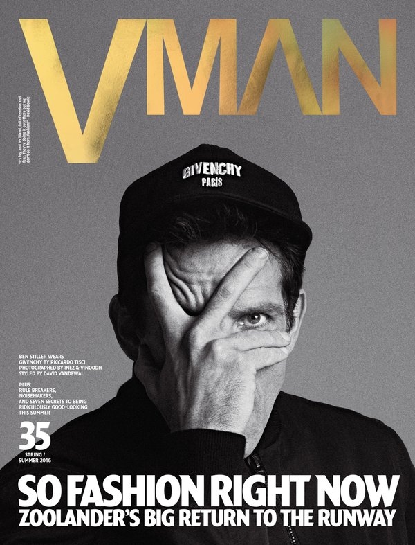 Ben Stiller Promotes Zoolander No. 2, Covers VMAN