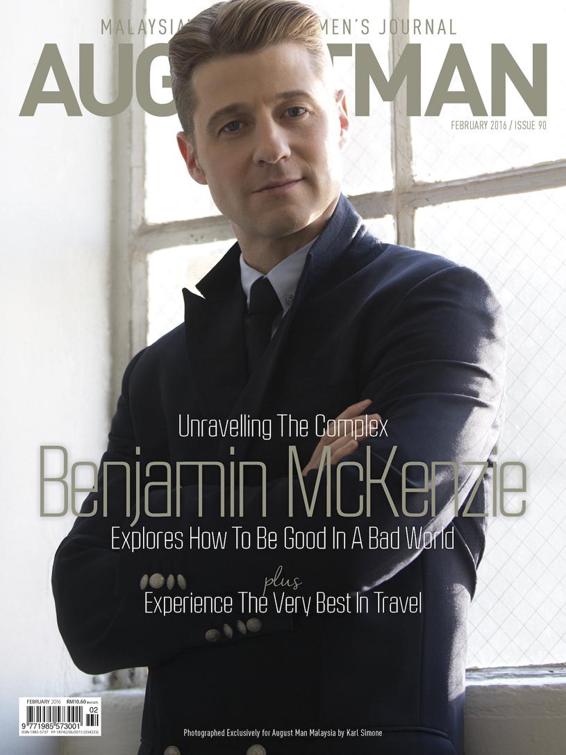 Ben McKenzie Covers August Man, Talks  'Gotham' + Jim Gordon