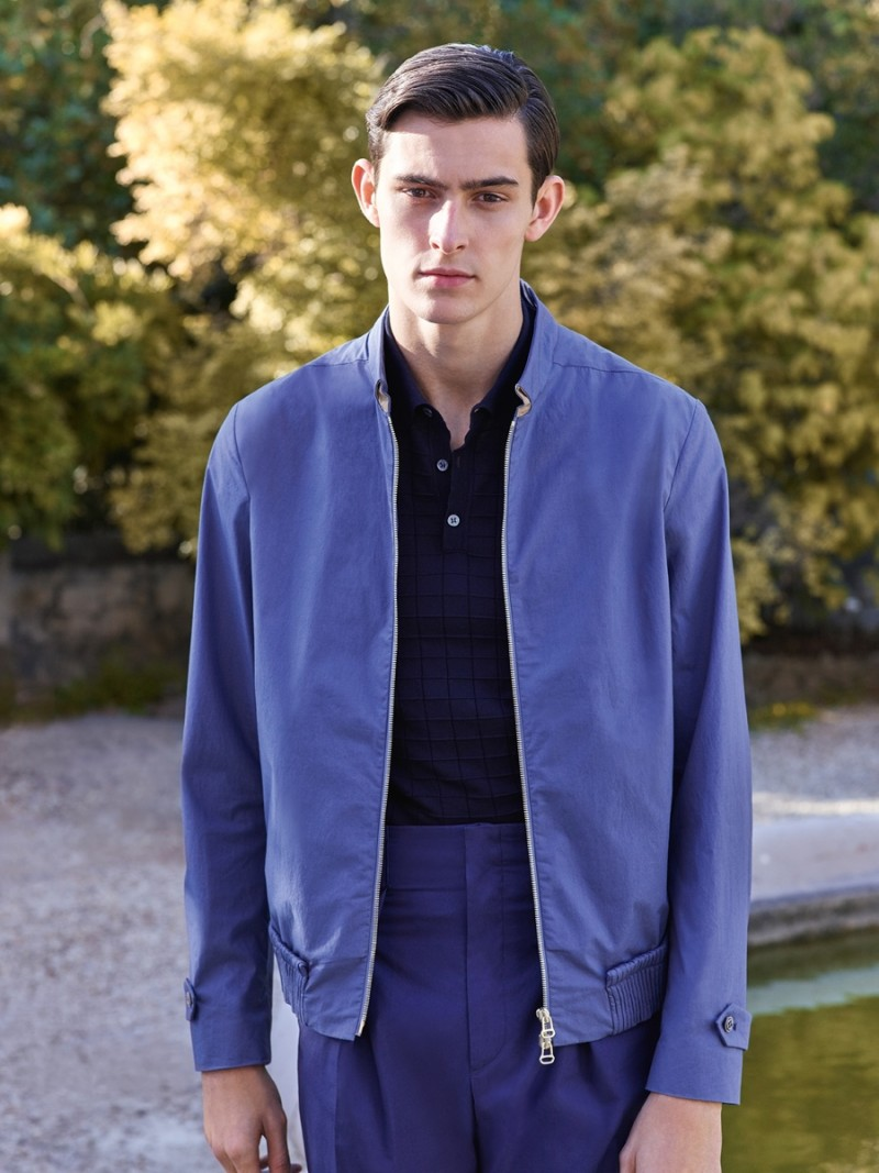 Corneliani-2016-Spring-Summer-Mens-Catalogue-men's-bomber-jacket-cotton-grosgrain-effect-ribbing-SS16