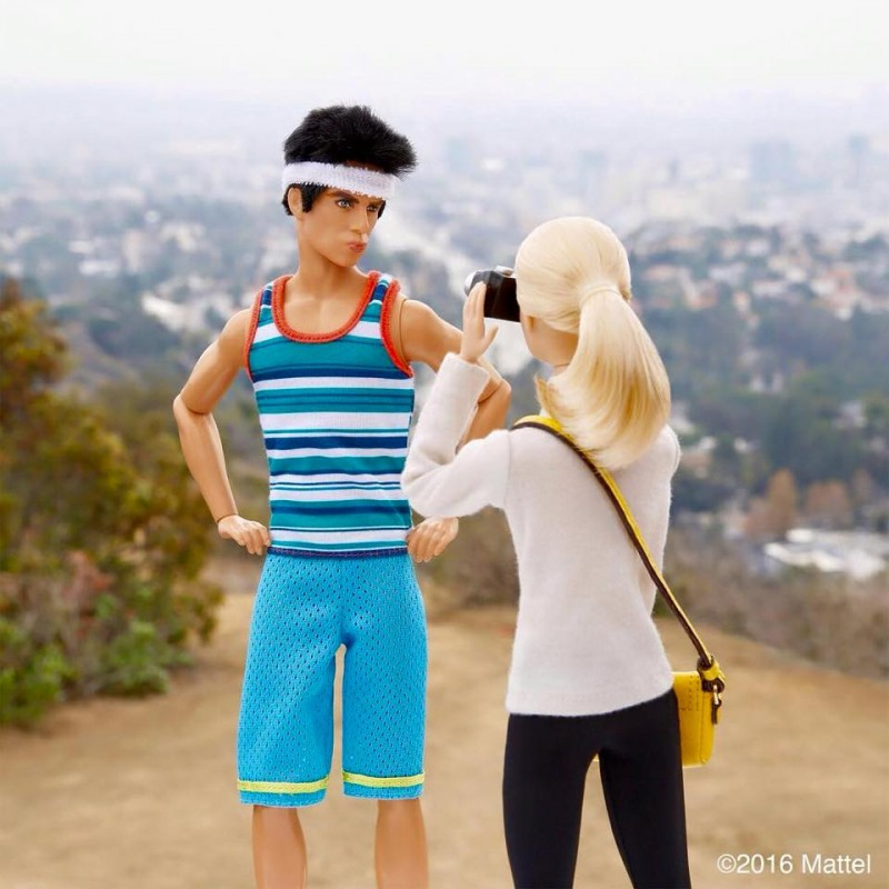 Derek Zoolander goes for a hike in the hills of Hollywood.