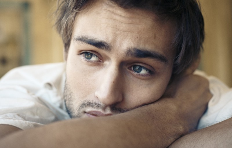 Douglas Booth photographed by Matt Holyoak for Interview magazine.