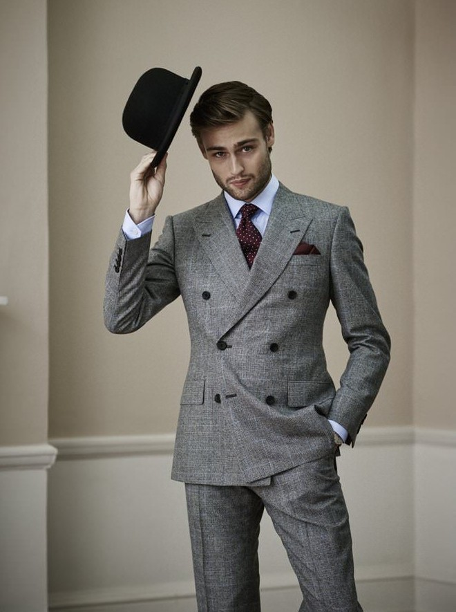 Its hats off to Mr Porter as Douglas Booth stars in a stylish spring shoot.