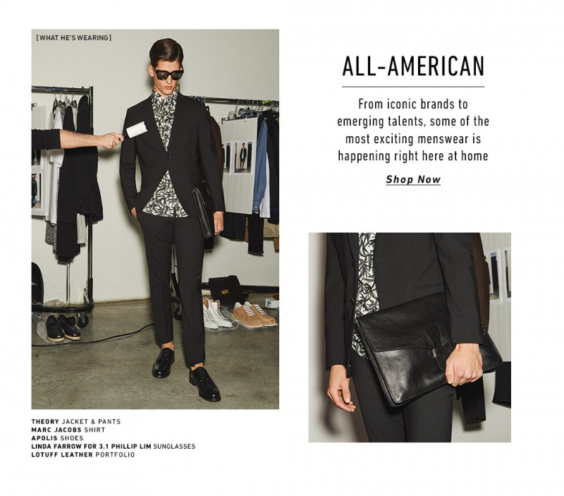 All-American: Model Nate Hill stars in a style feature for East Dane.