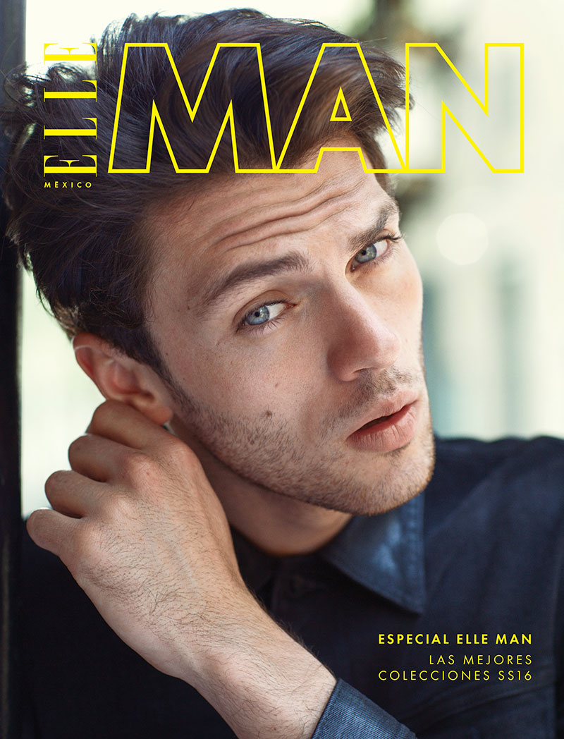 Silviu Tolu covers a special supplement of Elle Man Mexico, featuring GUESS fashions.