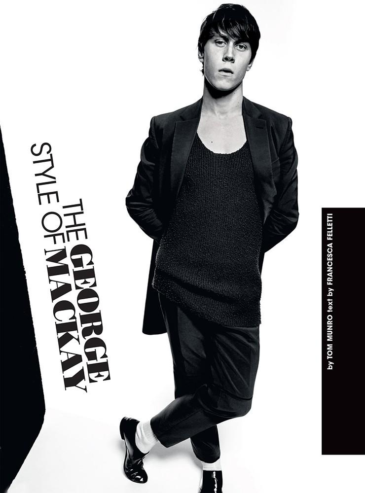 George Mackay stars in a photo shoot for L'Uomo Vogue.