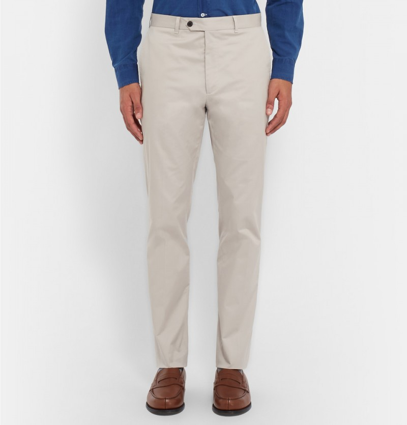 Gieves & Hawkes Slim-Fit Cotton Blend Chinos