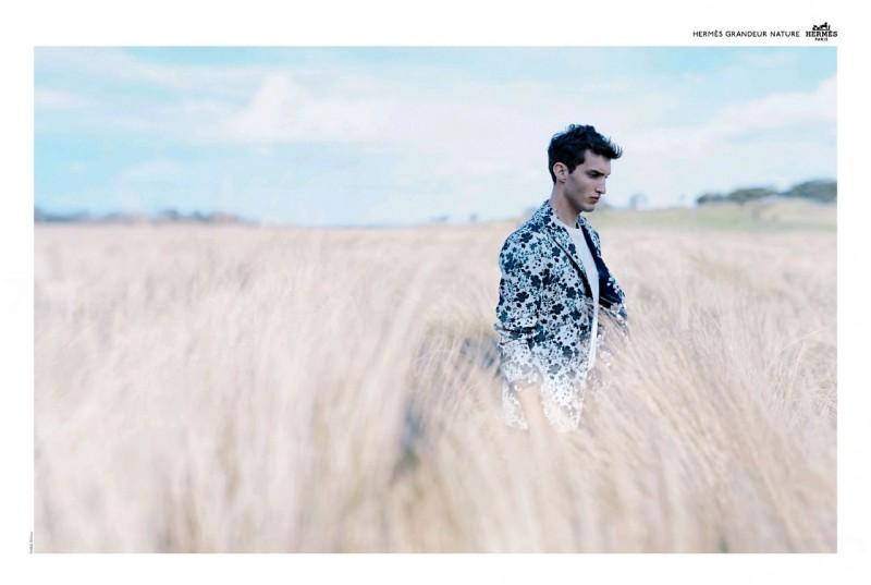 British model Charlie France stars in Hermès' spring-summer 2016 campaign.