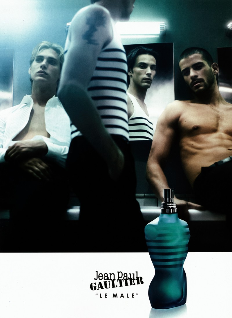 Models Jeremy Dufour, Scott Barnhill and Rubén Cortada for Jean Paul Gaultier Le Male 2008 Fragrance Campaign.