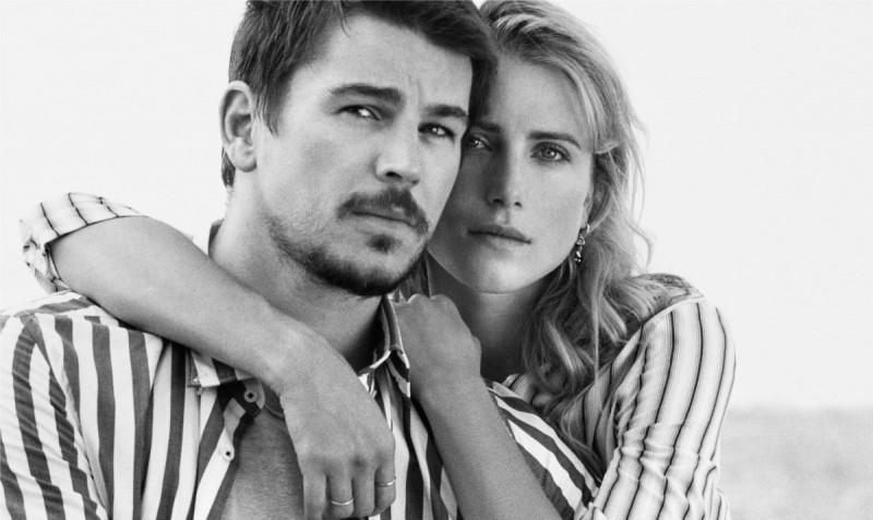 Actor Josh Hartnett and model Dree Hemingway star in Marc O'Polo's spring-summer 2016 campaign.