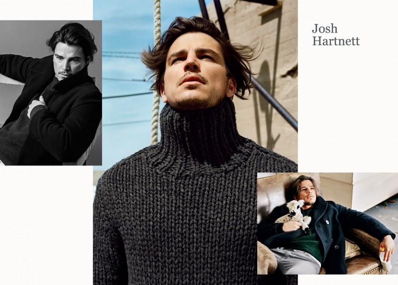 Josh Hartnett photographed by Bruce Weber for Marc OPolo fall-winter 2015 campaign.